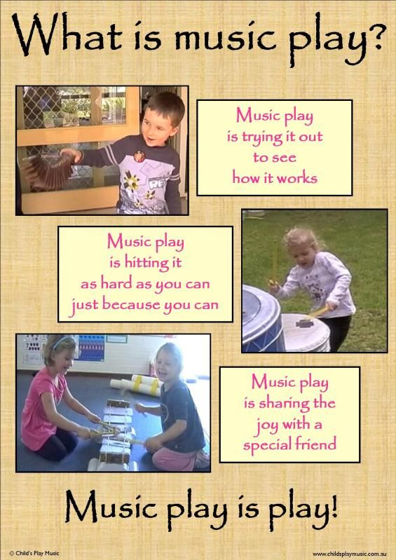 Poster about music play for children.