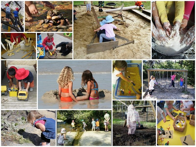 Collage of children playing