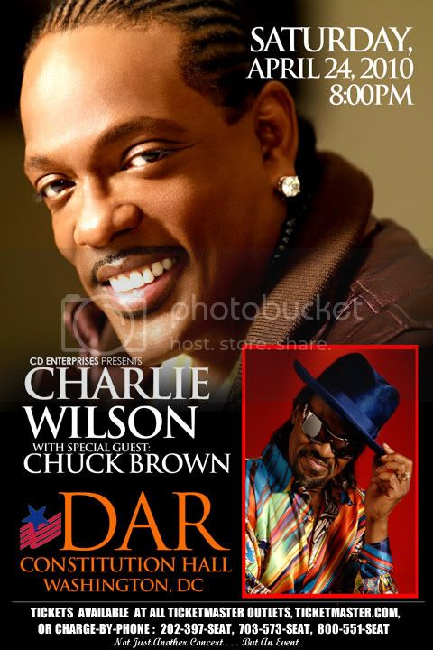 Charlie Wilson &amp; Chuck Brown LIVE In Concert | Apr. 24th